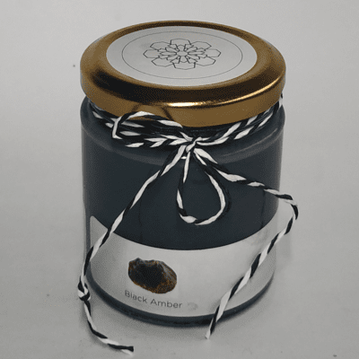 Black Amber Scented Candle