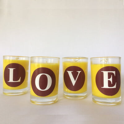 Scented Alphabet Candle- Yummy Yellow