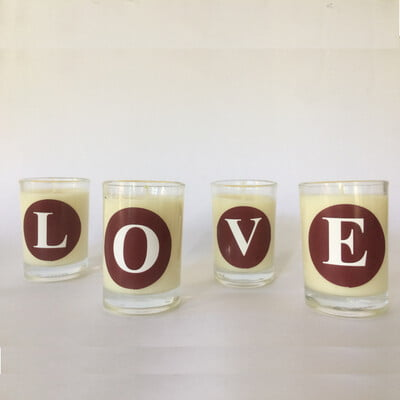 Scented Alphabet candle - Misty White