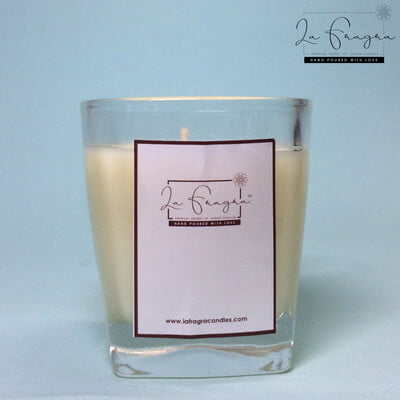 Scented Prayer Candle - Square Glass