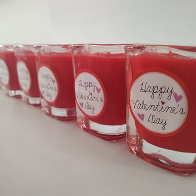 Happy Valentine's Day Message Candle
